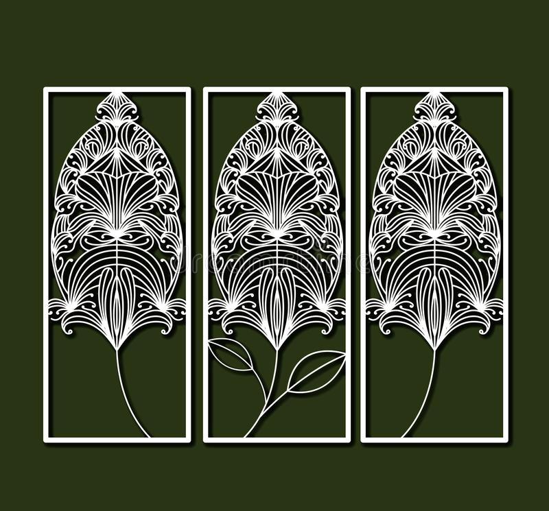 Laser Cutting Rectangular Frames With Decorative Feather Forms In ...