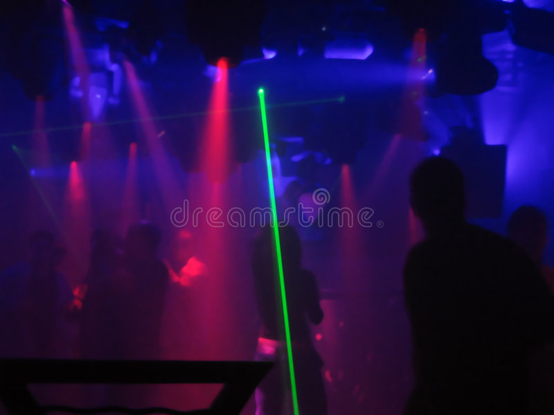 Laser Dancing stock photography