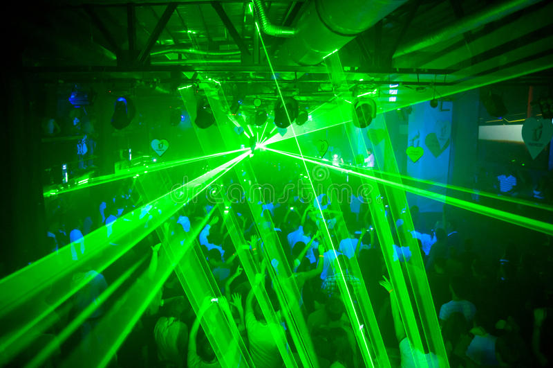 Laser-deltagare arkivbilder