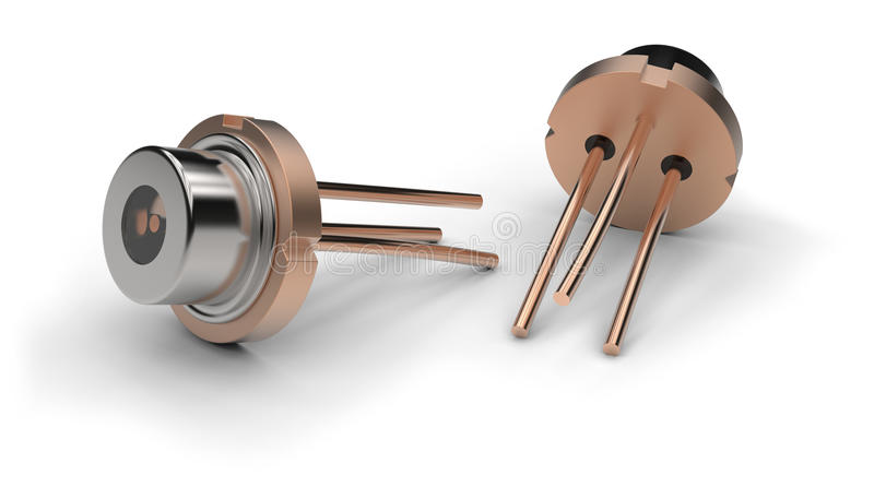 Laser diode. Isolated on white vector illustration