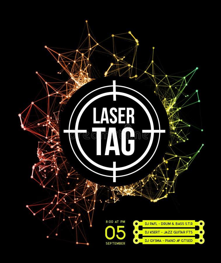 Laser-etikett med målet stock illustrationer