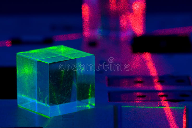 Laser experiment royalty free stock image
