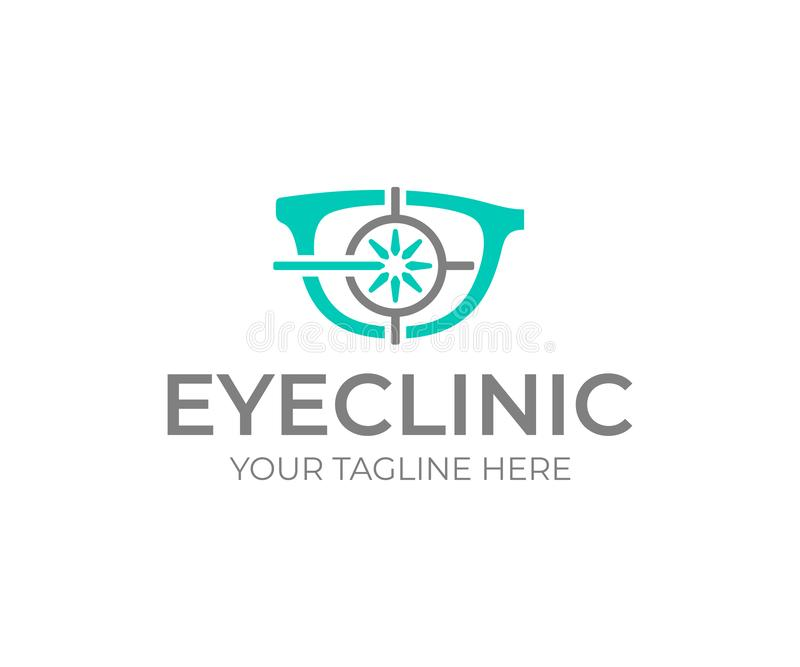 Laser eye surgery logo design. Eye clinic vector design stock illustration