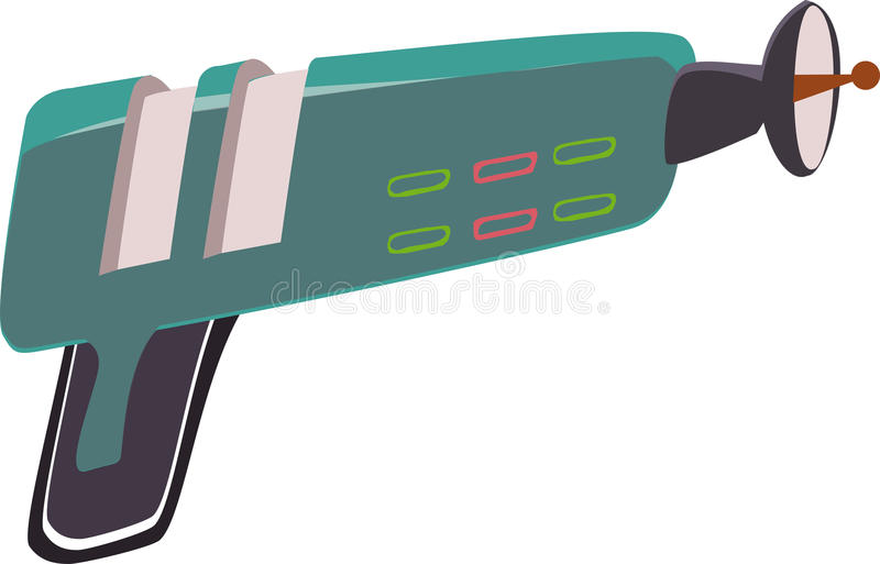 Laser, gun. Laser gun vector weapon eps vector illustration