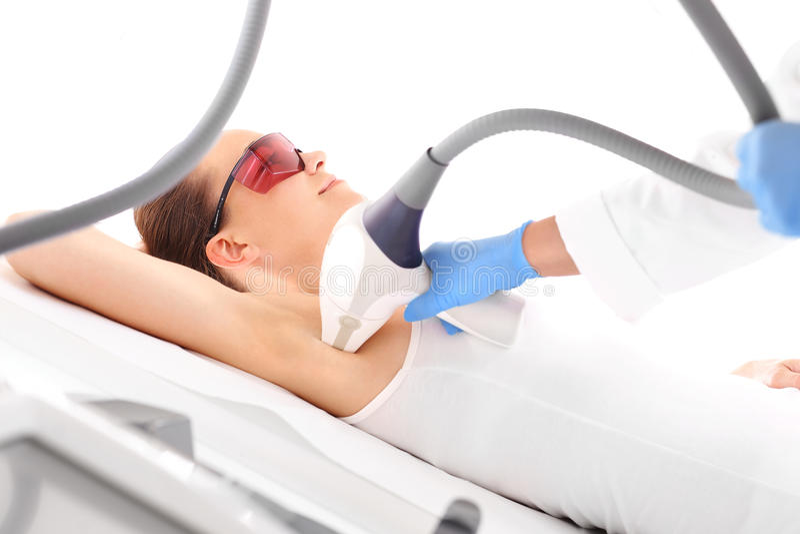 Laser hair removal armpits stock image