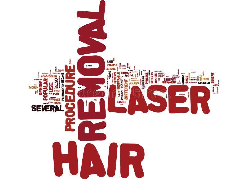 Laser Hair Removal Versus Electrolysis Word Cloud Concept Stock Vector