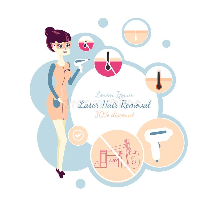 Laser Hair Removal Or Photoepilation  Template Of A Banner For Advertising Of A Salon Of A Laser