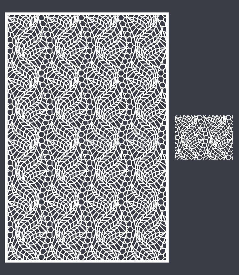 Laser klippte vektorpanelen och den sömlösa modellen för dekorativ panel vektor illustrationer