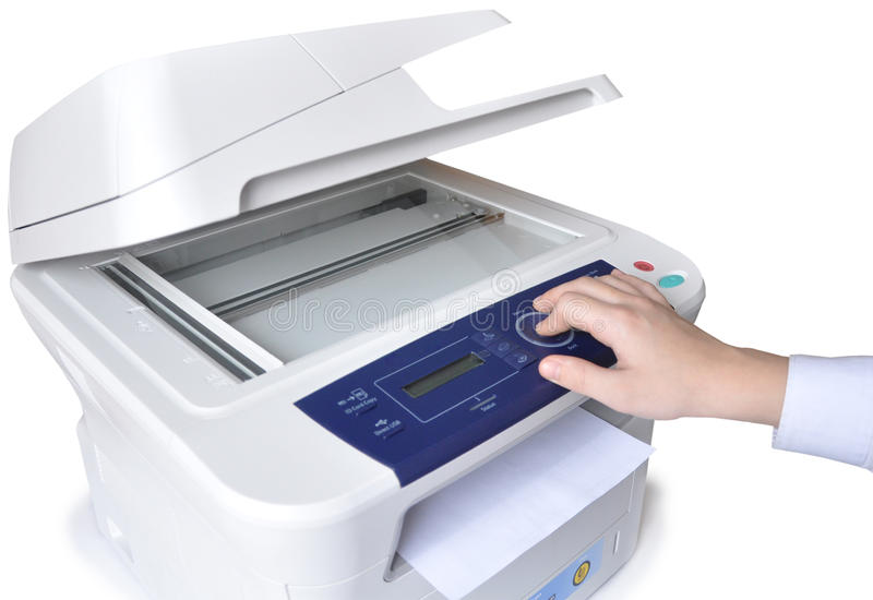 Laser-Kopierer und Telefax stockbild