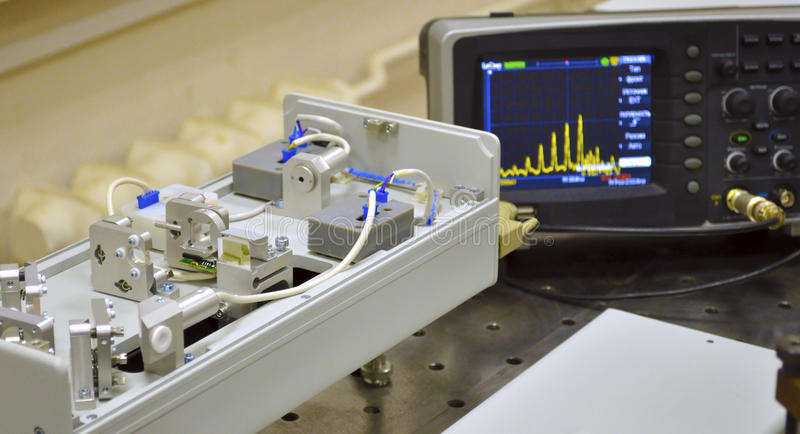 Laser Lab stock image