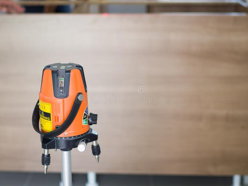 Laser Level Measurement Diagnostic-Tool Laser Level Tools for build a kitchen royalty free stock photo