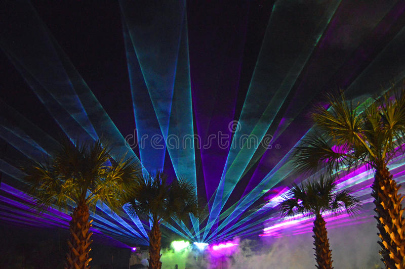 Laser Light Show stock images
