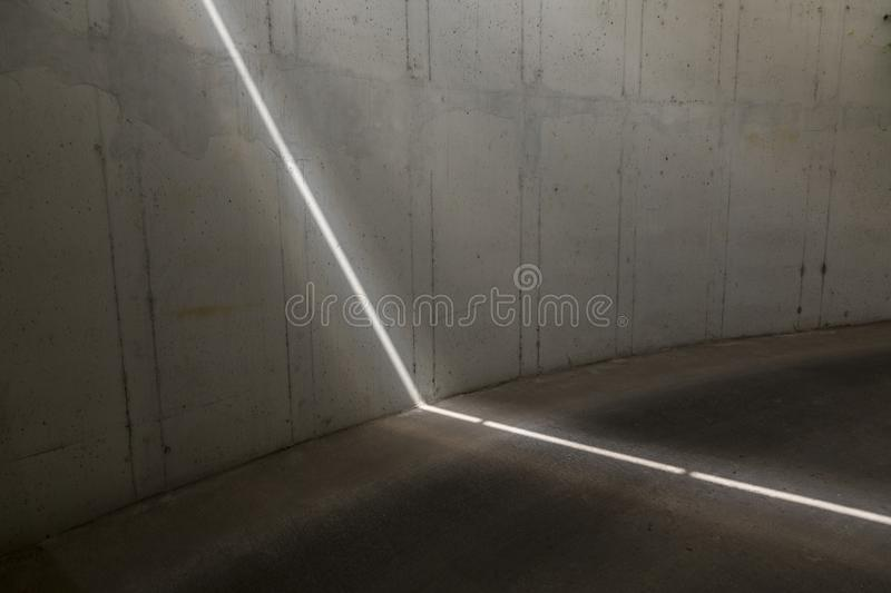 Laser light trace. Powerful laser light marking the cutting line on the concrete stock images