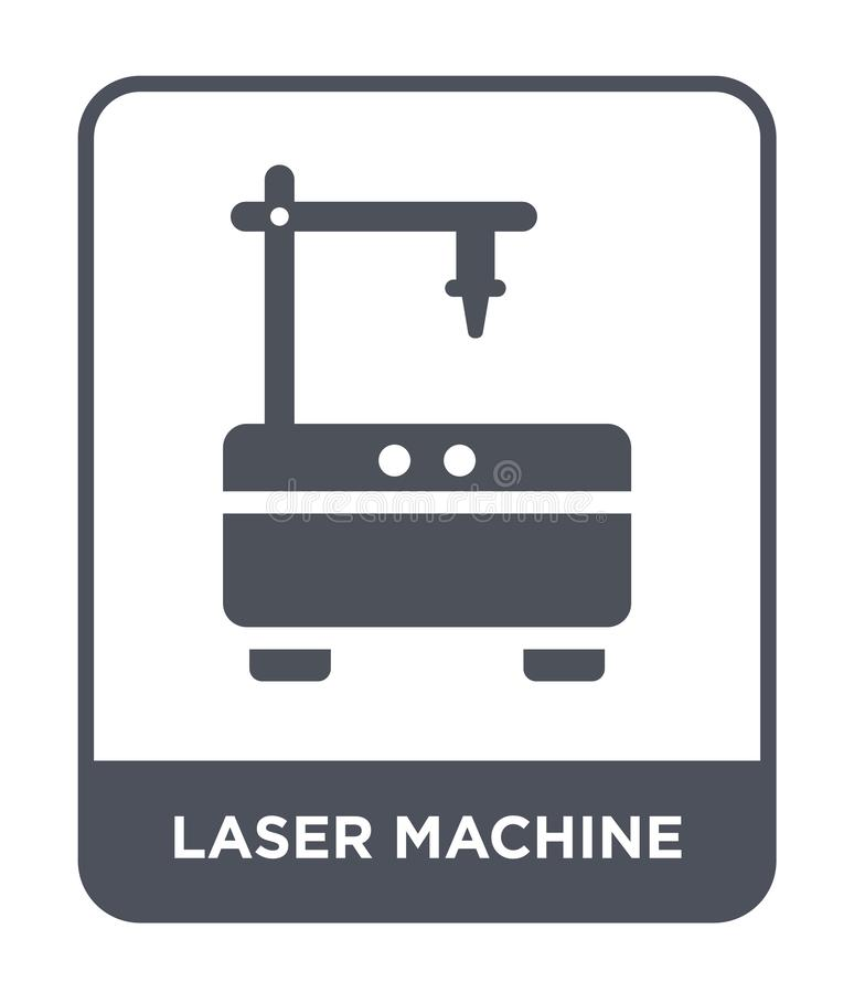 laser machine icon in trendy design style. laser machine icon isolated on white background. laser machine vector icon simple and royalty free illustration