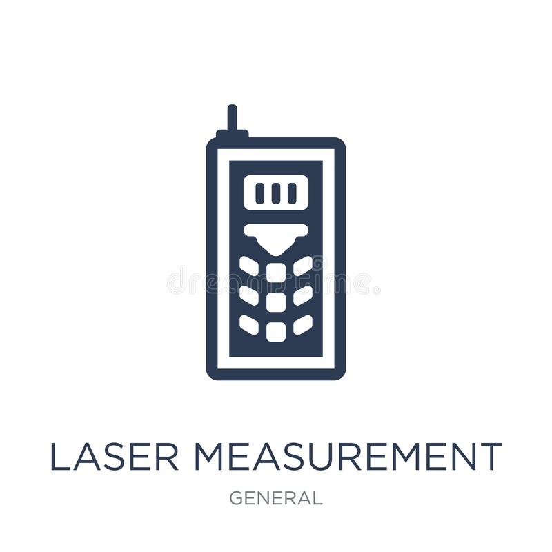 Laser measurement icon. Trendy flat vector laser measurement icon on white background from General collection. Vector illustration can be use for web and stock illustration