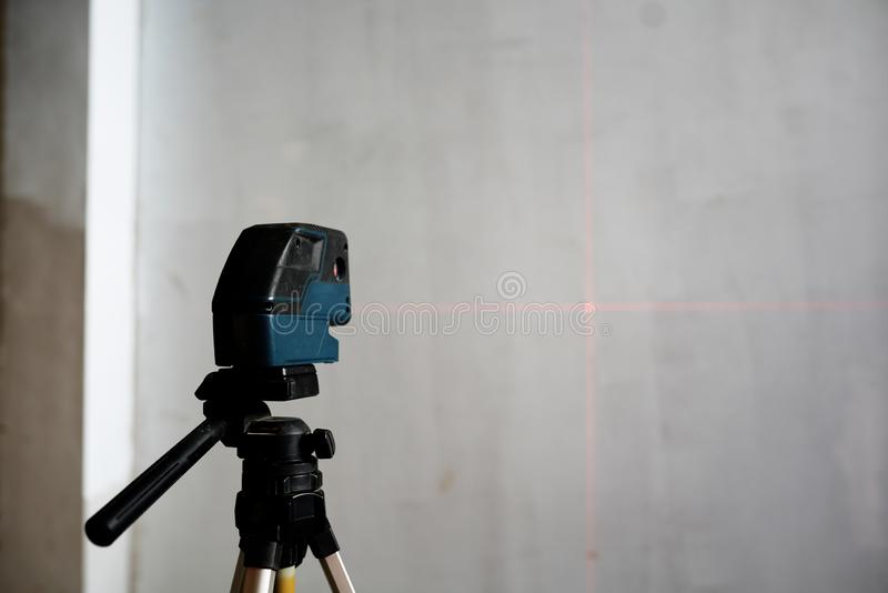Laser measurement level stock photo