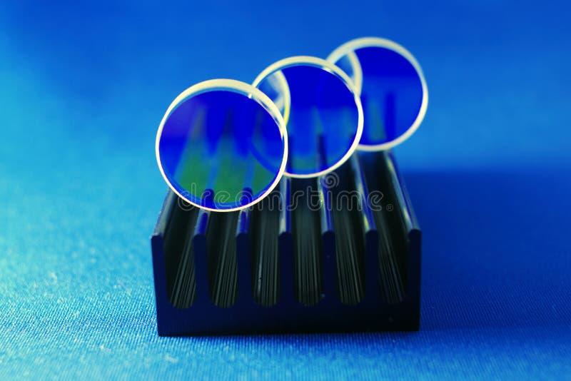 Laser mirrors set royalty free stock photo