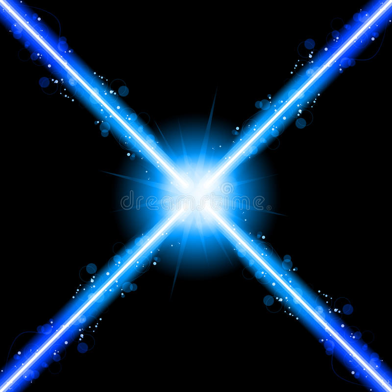Laser Neon Blue Lights Royalty Free Stock Image
