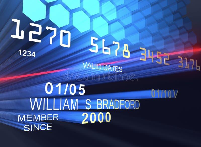 Laser par la carte de crédit illustration libre de droits