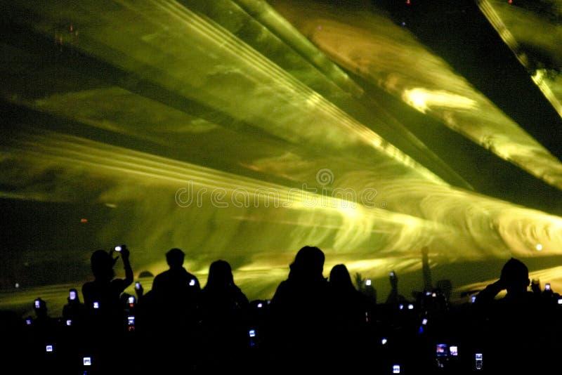 Laser-Party lizenzfreie stockfotos