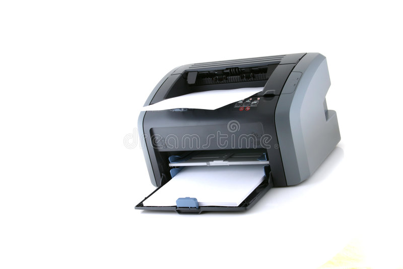 Laser printer. On white background royalty free stock photo