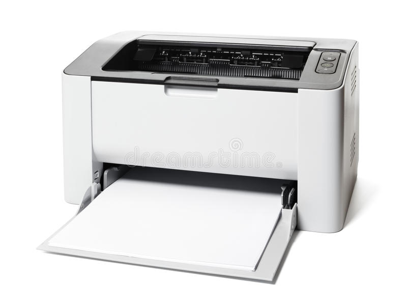 Laser Printer isolated royalty free stock images
