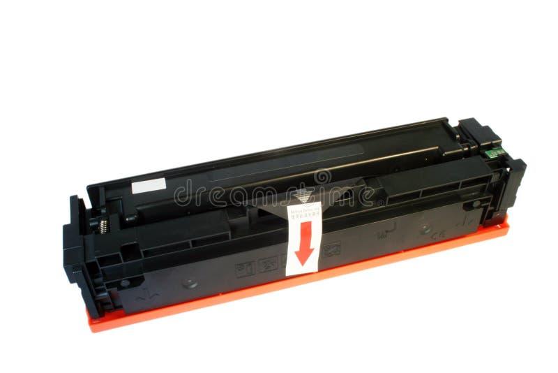 Laser printer toner cartridge. At the white background royalty free stock photos
