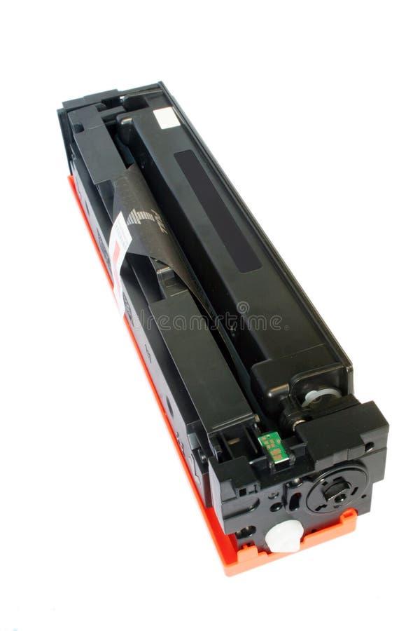 Laser printer toner cartridge. At the white background royalty free stock image