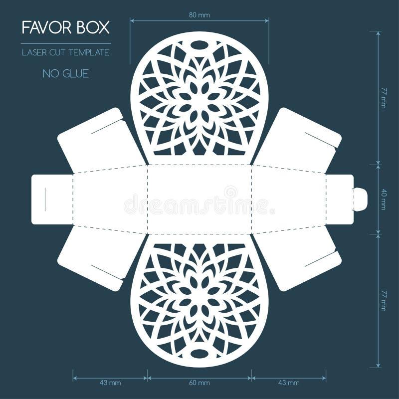Laser przysługi rżnięty pudełko ilustracji