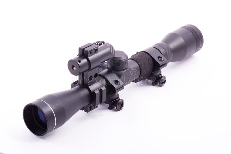 Laser rifle scope royalty free stock photo