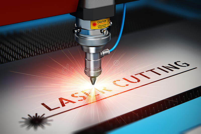 Laser scherpe technologie vector illustratie