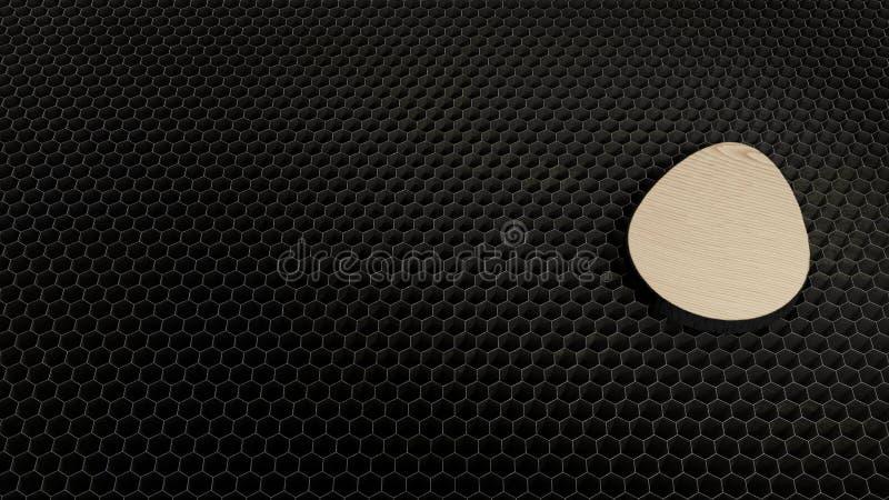 Laser-Schnittsperrholzsymbol des Eies stockbild