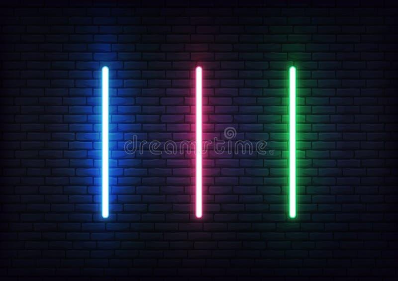 Laser set for Jedi Knights. Futuristic light saber sword weapon royalty free illustration