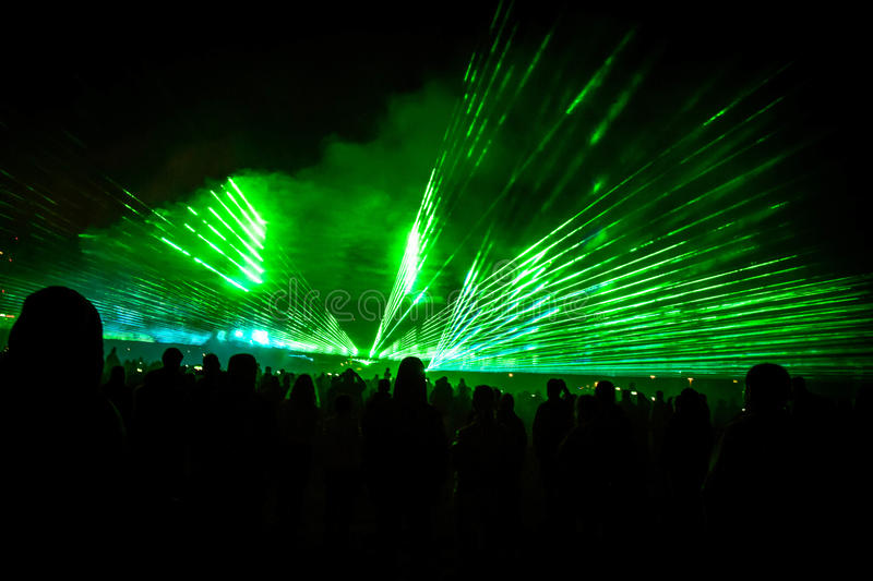Laser show 2 royalty free stock photography