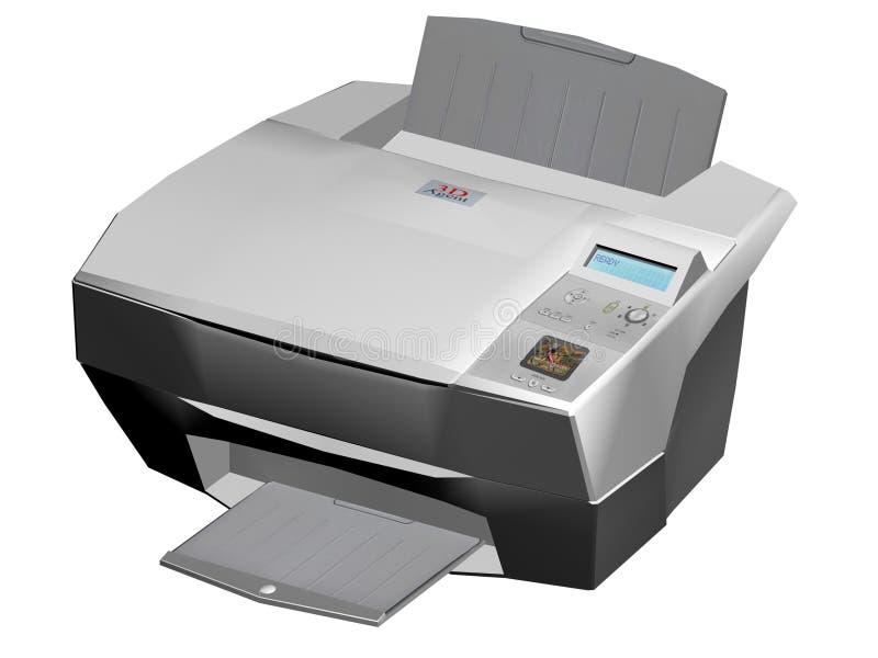 laser-skrivare stock illustrationer