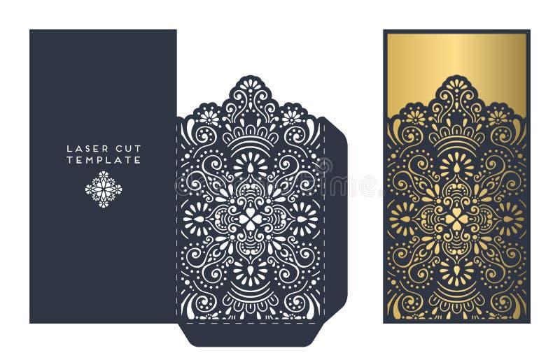 Laser-snittmall stock illustrationer