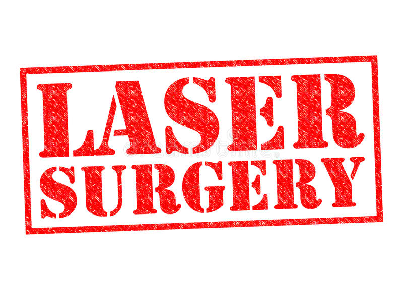 LASER SURGERY. Red Rubber Stamp over a white background royalty free illustration