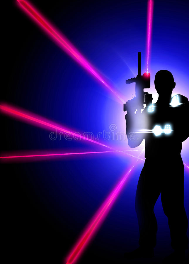 Free Laser Tag Background Royalty Free Stock Photos - 52745638