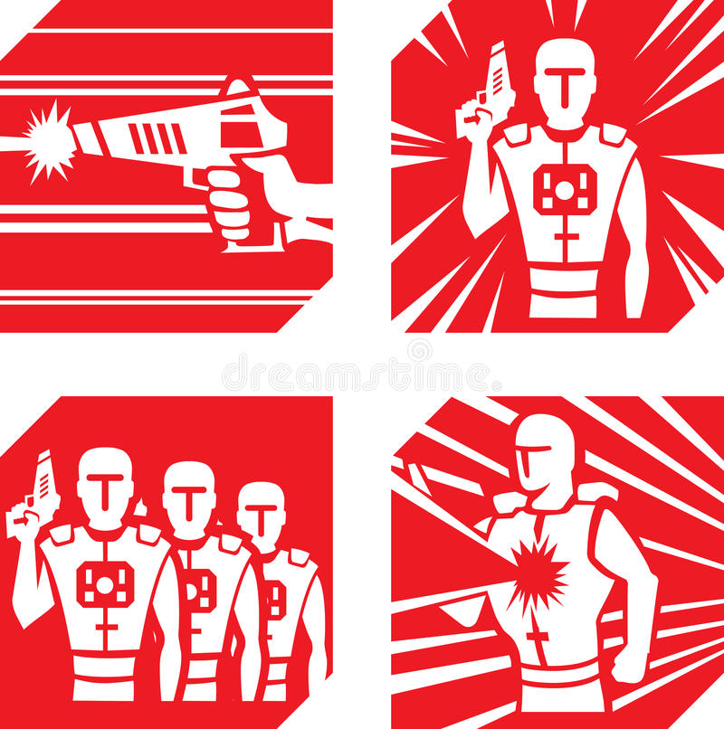 Laser Tag Icons vector illustration