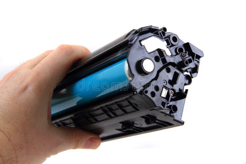 Laser toner cartridge. Isolated on the white background royalty free stock images