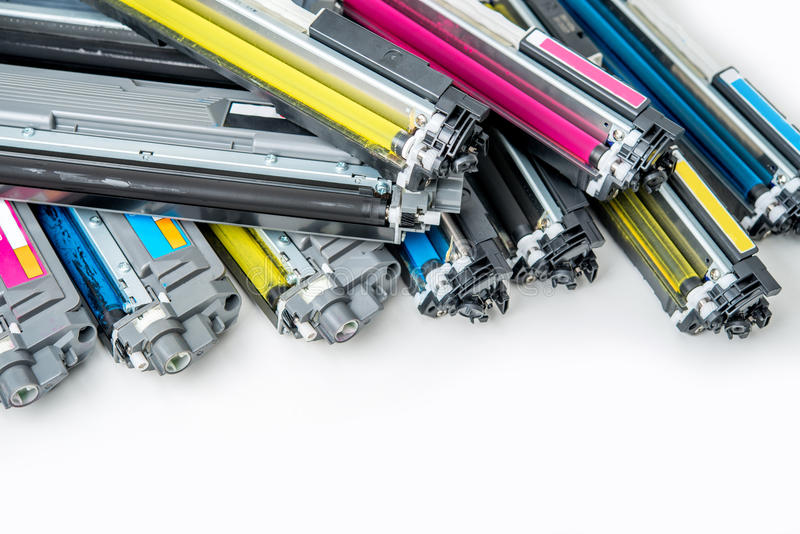 Laser toner cartridge stock photo