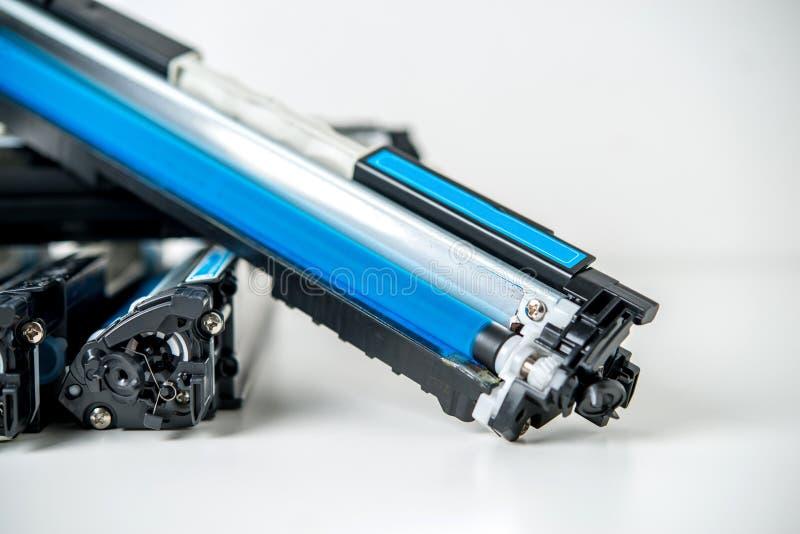 Laser toner cartridge. On white background royalty free stock photography