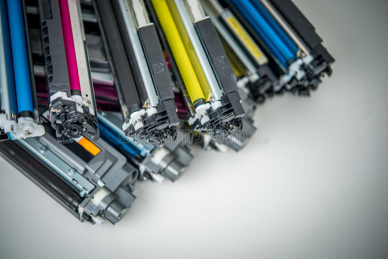 Laser toner cartridge stock photos
