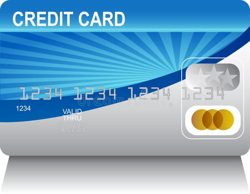 laserbeam kortkreditering royaltyfri illustrationer