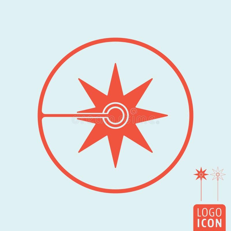 Laserowa ikona odizolowywająca ilustracji