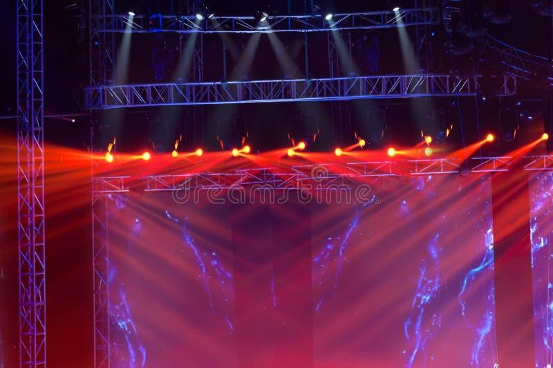 laserowa promieni światło reflektorów scena obraz royalty free