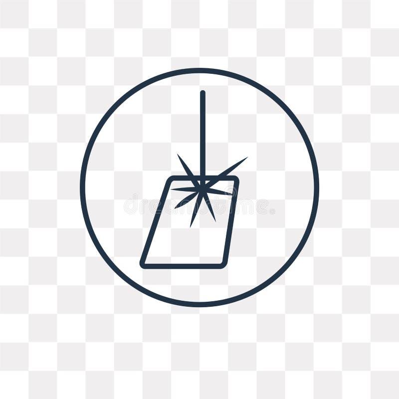 Laserowa wektorowa ikona odizolowywająca na przejrzystym tle, liniowy Las ilustracji
