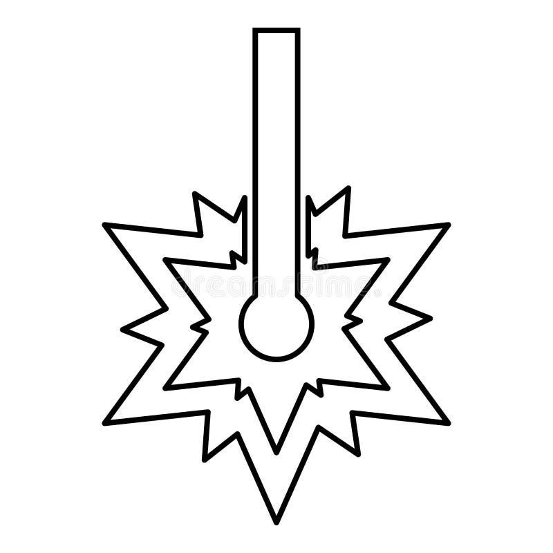 Laserowego pracującego laser linii iskry Spawalniczego symbolu rytownictwa pojęcia Laserowy rytownictwo pęka rżniętego ikona kont ilustracji