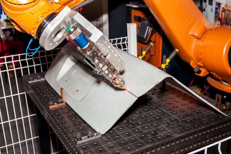 Laserowego punktu spawalnicza maszyna zdjęcia stock