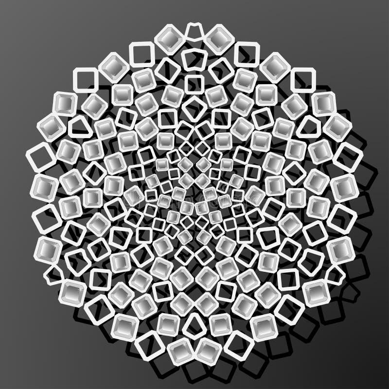 Laserowy cięcie papieru diamentu kwadrata rocznika wzoru wektor royalty ilustracja